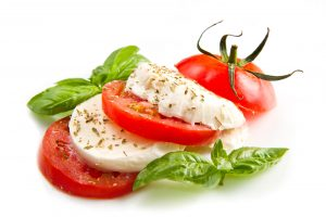 Fresh Mozzarella with Basil & Tomato